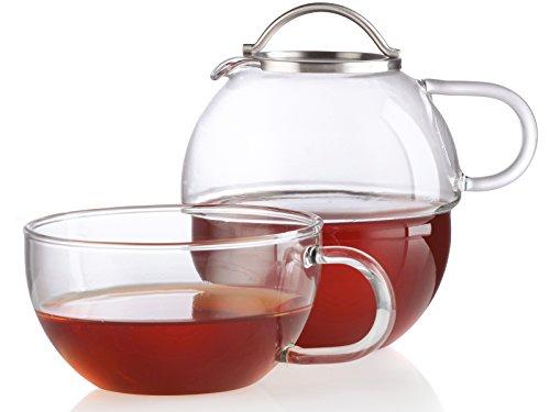 CREATIVE TOPS Randwyck T41 Teekanne und Tasse aus Glas