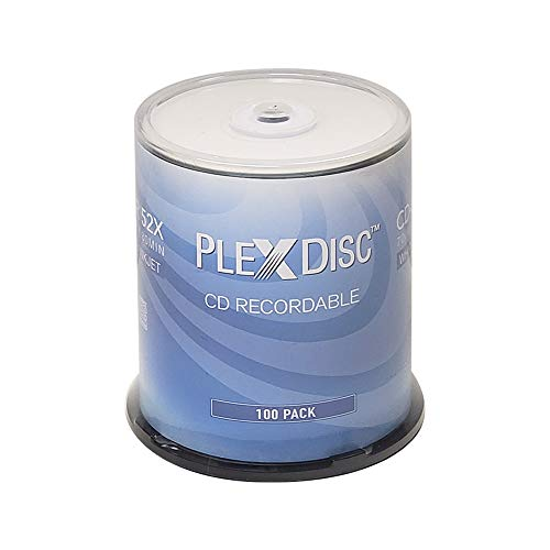 PlexDisc CD-R 700MB 52X White Inkjet Hub Printable Recordable Media