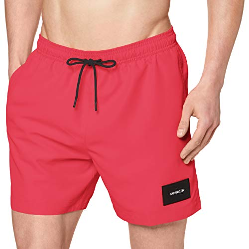 Calvin Klein Herren Medium Drawstring Badehose, Pink (Jewel Pink T1I), X-Large