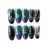 LHHYY uñas 24 unids/set nuevo patrón de mármol Jump Color presione en las uñas para niñas, personalidad de moda, herramienta de manicura para mujeres, uñas postizas con