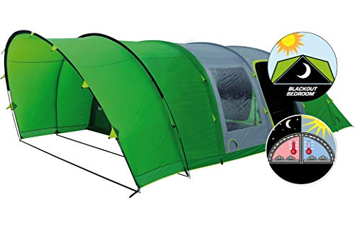 Coleman Inflatable Tent 6 Man Valdes 6XL, Camping Tunnel Tent With Air Poles, Air Tent Six Man, Family Blow Up Tent with BlackOut Bedroom Technology, 100% Waterproof with Sewn In GroundSheet