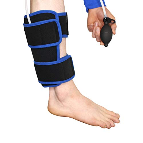 Cryotherapy Calf Wrap with Adjustable Compression Air Pump with Ice Pack for Calf Pain Relief, Running Injuries, Shin Splints, Calf Injuries, Surgery, Arthritis, and Rehabilitation by Brace Direct