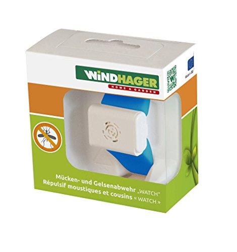 Windhager Mückenabwehr Watch Batterie Fernhaltemittel Mücken Armband Anti Mückenarmband, blau, 37116