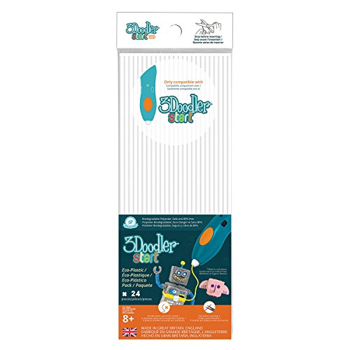 3 Doodler 3DS-ECO01-WHITE-24 62113 Start Plastic Packs, weiß