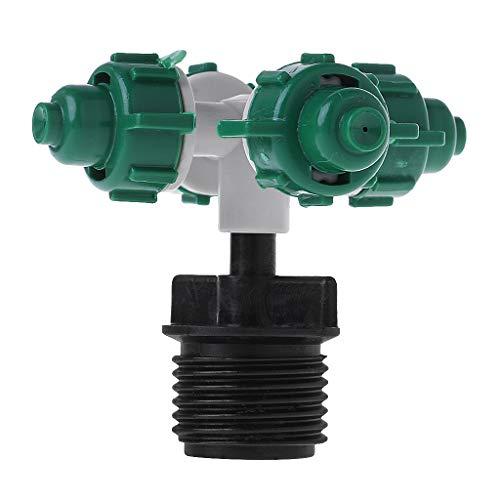 Manyo Gartenpumpe für Oberflächen, automatische Bewässerung, Tropfen außen, 4 Köpfe, Düse Hochdruck, Regner Canon, Kunststoff, für Bewässerung/Garten/Rasen