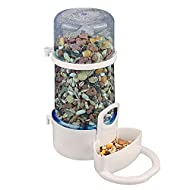 RUIYELE 220ml Automatic Pet Feeder Waterer, Bird Water Feeder Hamster Small Animal Food Feeder, Auto...