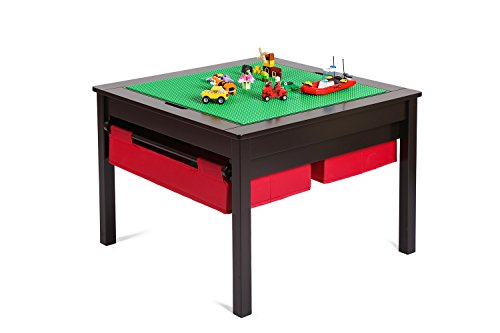 UTEX 2 in 1 Kids Construction Play Table with Storage Drawers and...