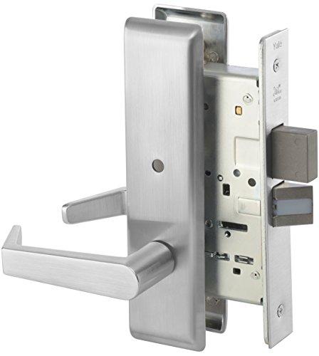 Yale 8802FL RH AUCN 626 8800 Mortise Lockset, Grade 1, Escutcheon Plate, Privacy with Deadbolt, RH Field Reversible, 626 Satin Chrome Finish