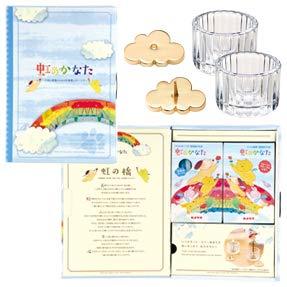 【お仏壇のはせがわ】 ペット供養 お供え物 線香 ろうそく 水入れ ろうそく立て ペット仏具 P虹のかなた MG 6点セット