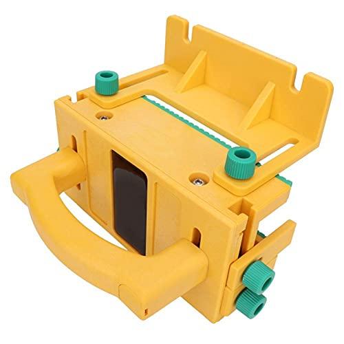 Blocco di spinta di sicurezza 3D, impugnatura verticale di sicurezza gialla protegge lo strumento di blocco della sega da banco adatto per seghe da banco, fresatrici e macchine aggraffatrici