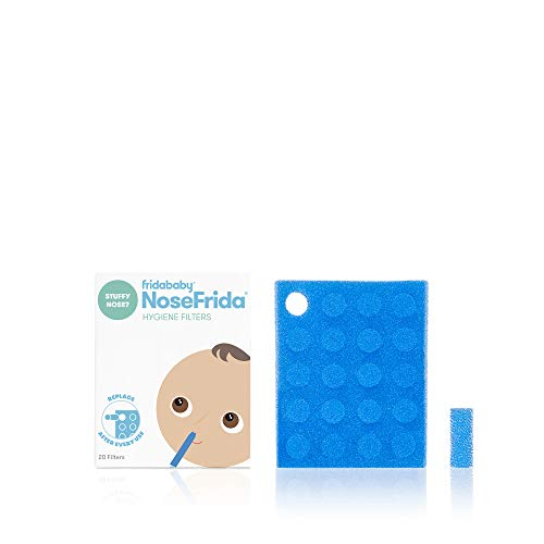 Filtros de higiene para aspirador nasal de bebé para NoseFrida el Snotsucker por Fridabababy (20 unidades)