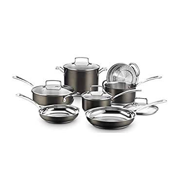 Cuisinart BSC7-11 Black Stainless Collection Cookware Set, 11 Piece