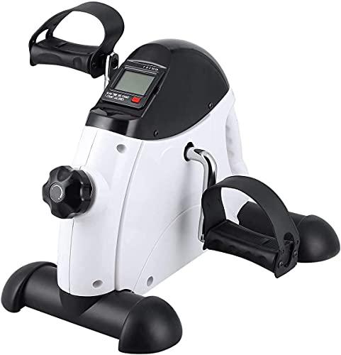 Mini Bike Arm- und Beintrainer Heimtrainer Pedaltrainer Bewegungstrainer für Senioren mit Motor Fitnessbike Weiss