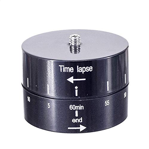 FUQUANDIAN para teléfono móvil lapso de tiempo de 360 grados rotación automática cámara trípode base 360 TL Timelapse para cámara Gopro SLR Accesorios soporte accesorios (color: 60 minutos plástico)