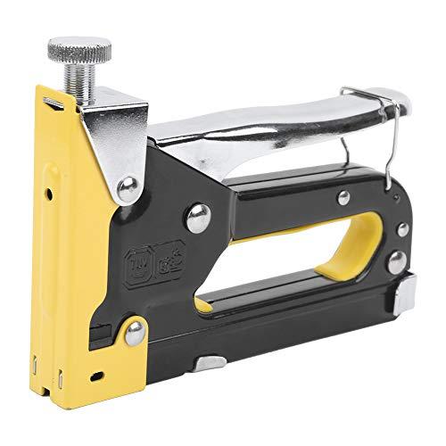 Pistola de grapas de herramientas industriales para tapicería 3 en 1 de 0,2-0,6 pulgadas, capacidad de 600 clavos de alta resistencia para mejorar el hogar