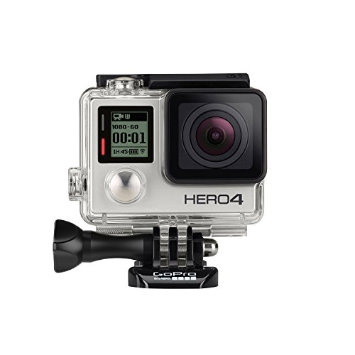 GoPro HERO4 Silver Edition Adventure – Videocámara deportiva (12 Mp, Wi-Fi, Bluetooth, sumergible hasta 40 m)