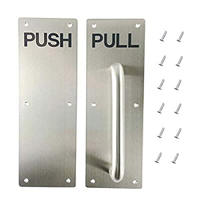 Set of Stainess Steel Door Handle Pull and Push Plate