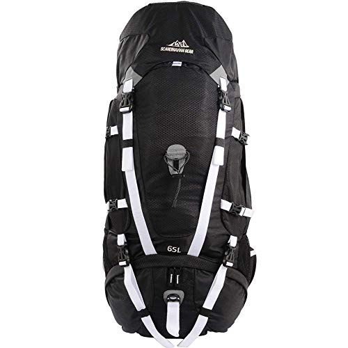 Internal Frame Hiking Backpack Includes Safety Features Such As Whistle And Reflective Tape
