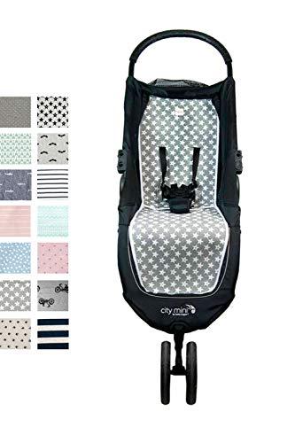 Fundas BCN ® - F61/93002 - Colchoneta para Baby Jogger City Mini®, City Mini 3 ®, City Mini 4 ® - Fun Vintage Star