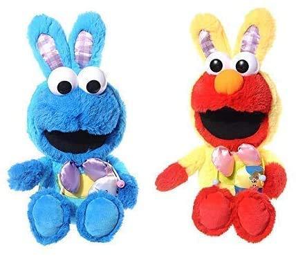 LINQ Plüschspielzeugsatz von 2 Stück 9?cm Neue Ostern Dress up r  bb  t elmo Cookie Monster plüsch Puppe plüschtier Kinder Geschenk Qianmianyuan