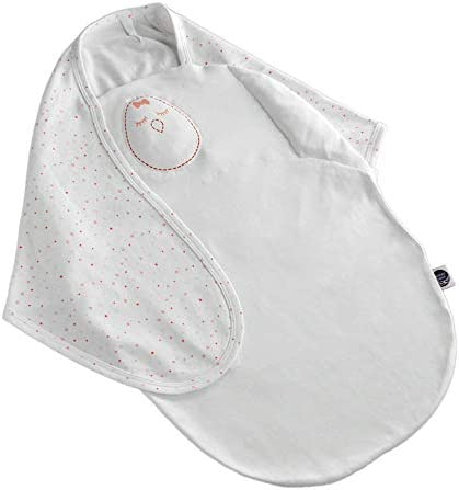 Nested Bean Zen Swaddle - Gently Weighted Swaddle | Baby: 0-6 Months | Cotton 100% | Helps to Reduce Moro (Startle) Reflex | Unisex | TOG 1.5 | Machine Washable