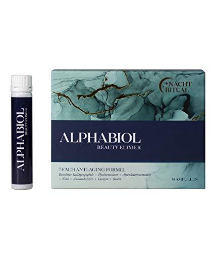Alphabiol Beauty Elixier - Kollagen + Hyaluronsäure I Luxus Beauty-Drink I Schöne Haut von innen I 2 Wochen Kur (14 Trinkampullen)