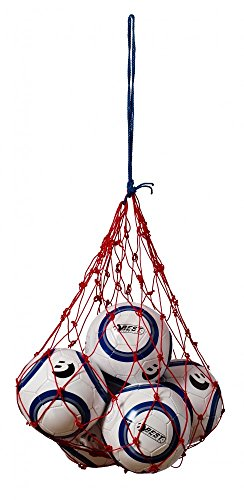 Best Sporting Ballnetz für 5-6 Fußbälle, gelb oder rot, Farbe: blau