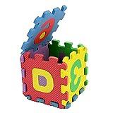 LNSGA 36pcs niños Mini EVA Alfabeto Números Piso de Espuma Bebé Cartas 3D Puzzle Mat Soft Children Baby Crawling Mat Toys Educativo 5 * 5 cm