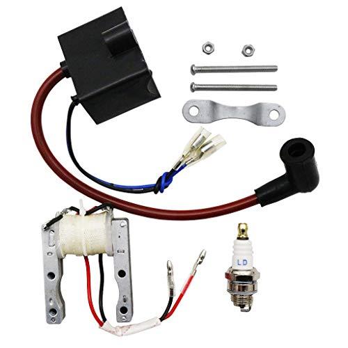 CNCMOTOK High Performance Kit CDI-Ignition-Coil Magneto Coil Spark Plug for 49cc-80cc 2-Stroke Motor Engine Motorized Bicycle Bike