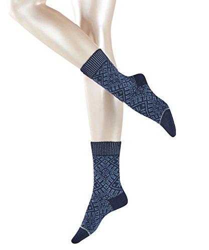 ESPRIT Damen Socken Norwegian Boot, Wolle/Baumwollmischung, 1 Paar, Blau (Deep Blue 6355), Größe: 35-38