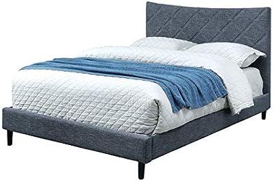 Furniture of America Cheyenne Modern King Bed in Dark Blue