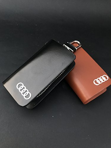 Brand Bites Luxury Leather Key Wallet/Pouch (Hanging Lock) for Q3, A3, Q7, A4, A6, S5, R8, Q5, A3 cabriolet, RS7, A5, RS5