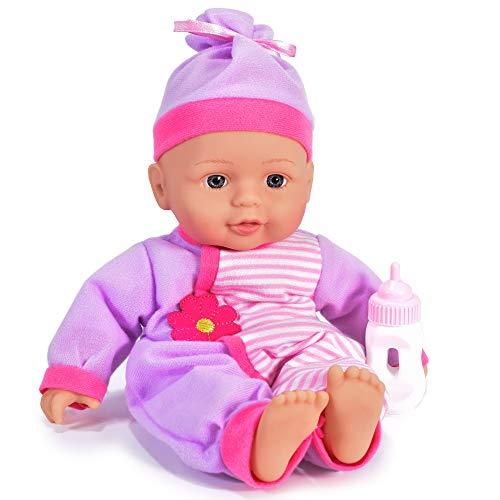 KandyToys Babypuppe mit Flasche, 33 cm
