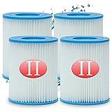 Denkmsd Cartucho de filtro tipo II para bomba de piscina Bestway 58094, capacidad: 2006/3028 l/hora (4 unidades)