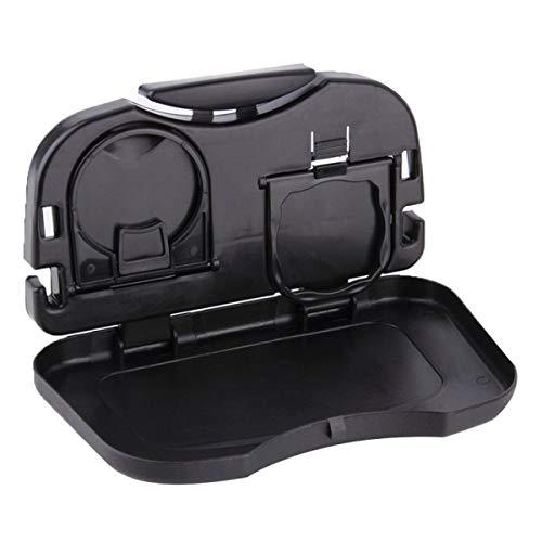 JJOnlineStore - Asiento trasero auto del coche Plegable mesa plegable Soporte de almacenamiento de bebidas Bandeja de la taza de alimentos Soporte de escritorio
