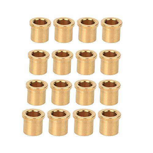 12Pcs Buje de bronce, 8/6 Buje de bronce de baja fricción, bronce SAE 841, Diámetro interno 6mm, Diámetro exterior 8 mm, Longitud 8.5mm, piezas de robots industriales