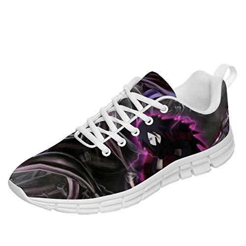 Naruto Shoes for Men Women Custom Mesh Casual Anime Cosplay Running Sneakers Gifts for School,White,Women 13,Men 11