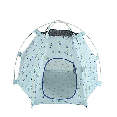 WSJF hond tent huisdier tent draagbare waterdichte outdoor indoor tent geschikt voor kleine huisdieren entertainment en rust, luchtblauw