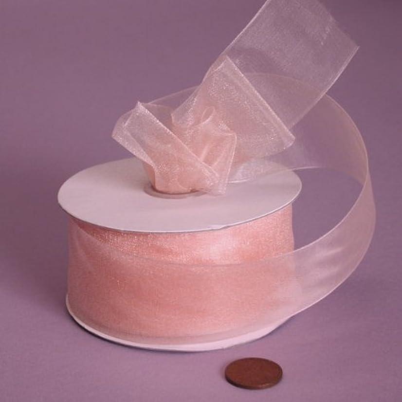 Peach Shimmer Sheer Organza Ribbon, 1-1/2