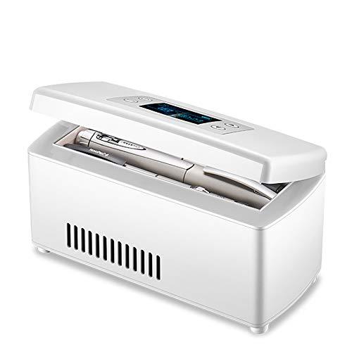 PEIHAN Enfriador de insulina Caja refrigerada refrigerada 2~18 ℃ - Estuche portátil de Viaje para Enfriador de insulina y medicamentos con Pantalla LCD para automóvil, Viajes, hogar