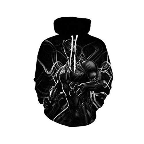 SLYZ Hombres Otoño E Invierno Nueva Personalidad De La Moda De Gran Tamaño Cráneo Impresión 3D Cuello Redondo Suéter con Capucha para Hombres