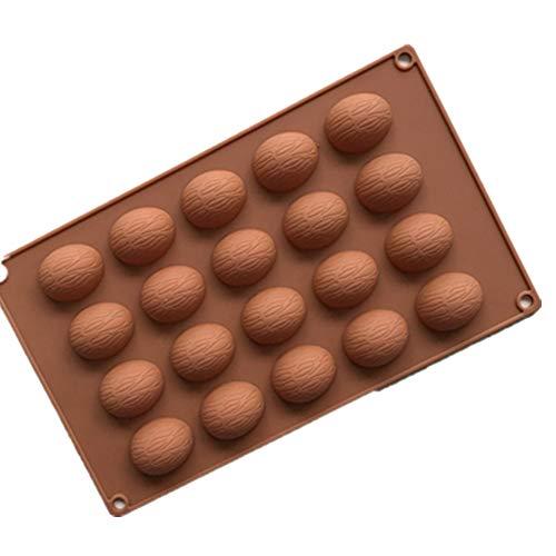 20 Torta de la Taza de la Nuez de la Decoración de Cocina Antiadherente Para Hornear Sartenes Jalea de Dulces de Caramelo En Bandejas - Color Aleatorio