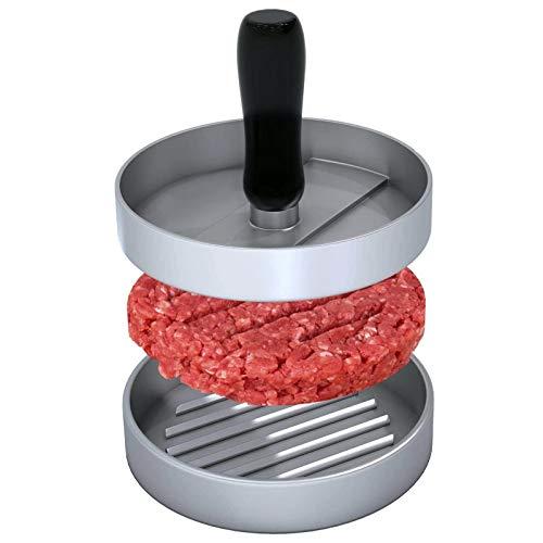 Pressa per hamburger in alluminio pressofuso, Rodmaie Burger Maker con 2 fogli di carta da forno, set di pressa per hamburger deliziosi, tortine, barbecue, hamburger pressa