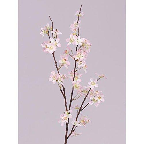 Branche décorative de pommier en fleurs, 57 fleurs, rose clair, 85 cm - Branche artificielle fleurie - artplants