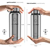 ACTIVE FLASK von BeMaxx Fitness 950ml (Classic Stainless) - 4