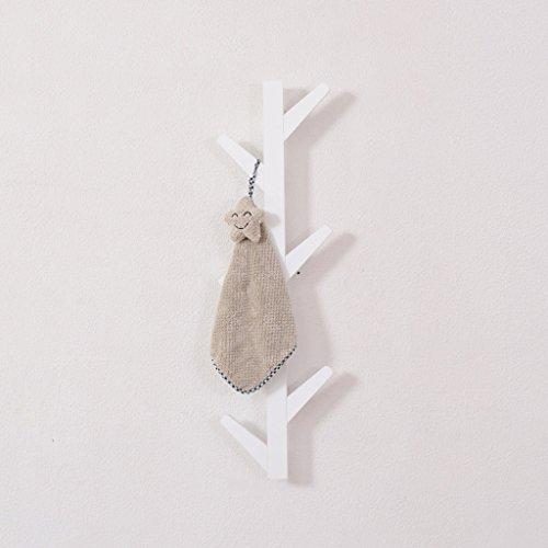 SUN ll-Hooks Gancho de la Capa Moderno Perchero de Madera del árbol montado en la Pared Rack Hook Up, Blanco (Tamaño : H78CM)