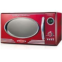 Nostalgia 800 Watt Retro Large Countertop Microwave Oven