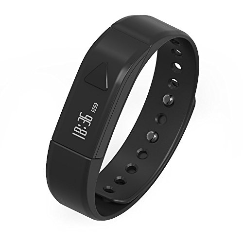 Sport Fitness Tracker, Joso Heart Rate Fitness Wristband Smart Watch Waterproof IP67 Activity Tracker Smart Bracelet with Stopwatch, Pedometer, Calorie Step Counter, Sleep Quality Monitoring - Black