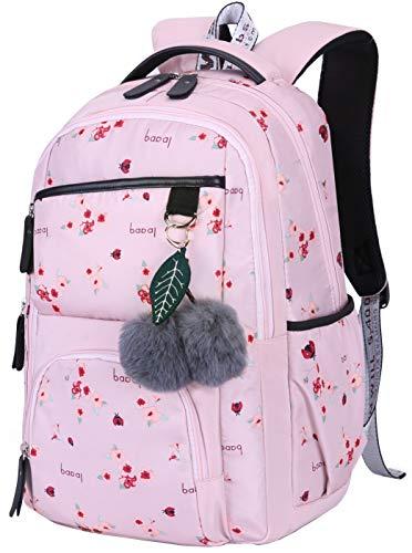 Mädchen Rucksack Blumen Schulrucksack Daypack Damen Teenager Reise Schultasche Laptop Backpack für Mädchen Schule (Pink)