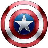 Capitán América Shield Metal 1: 1 Versión De Película Avengers Handheld Prop Modelo Decoración Traje De Superhéroe Escudo, 23,6 Pulgadas / 60 Cm,60cm